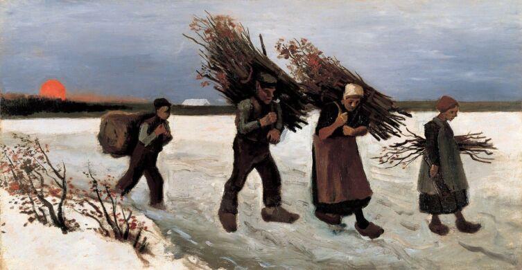 Винсент Ван Гог, «Собиратели хвороста на снегу», 1884 г.