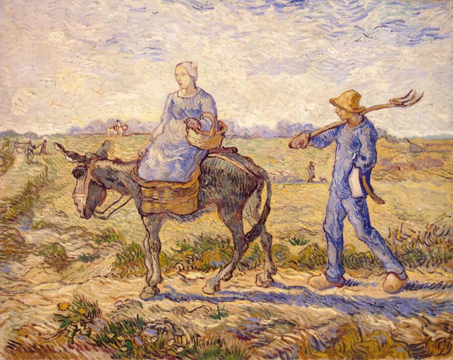 Винсент Ван Гог, «Утро. Отправление на работу (Подражание Милле)», 1890 г.