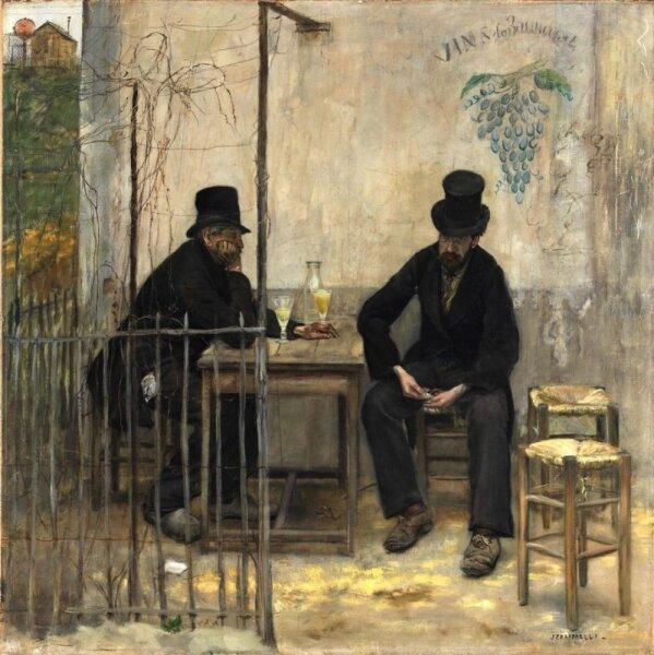 Жан-Франсуа Рафаэлли, «Пьющие абсент», 1881 г.