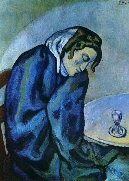 Пабло Пикассо, «Спящая пьяница», 1902 г.