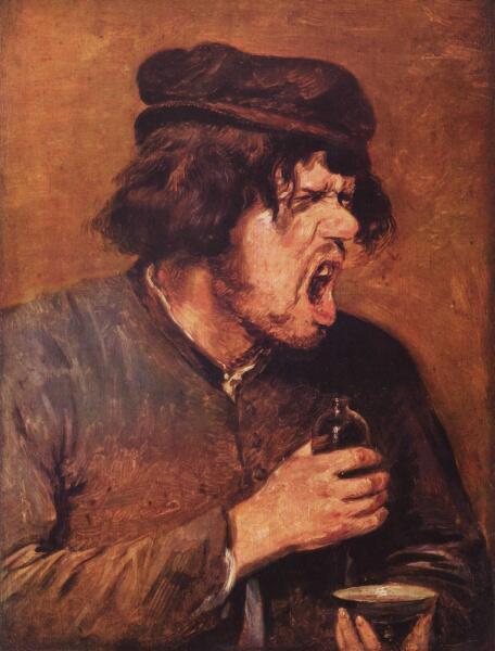 Адриан Брауэр, «Пьяница», 1640 г.