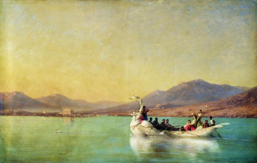 И. К. Айвазовский, «Венчание поэта в Древней Греции», 1886 г.