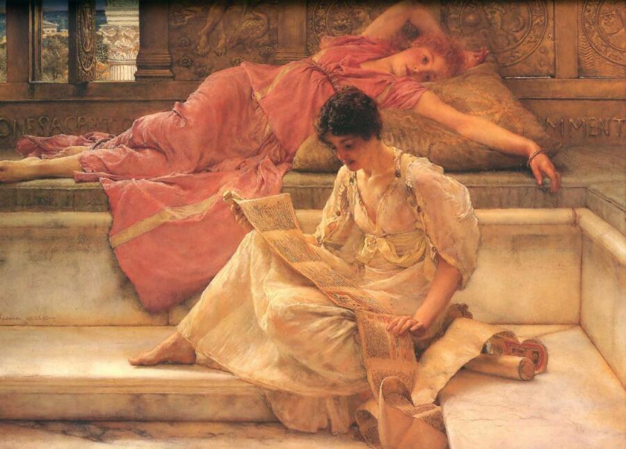 Лоуренс Альма-Тадема, «Любимый поэт», 1888 г.