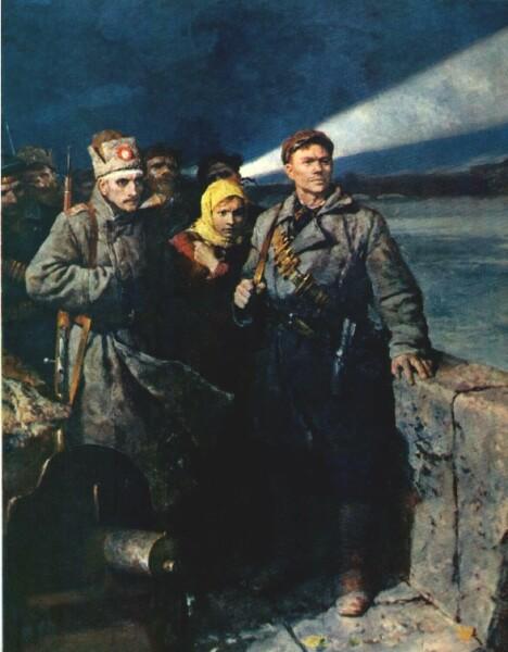 В. А. Серов, «Ждут сигнала. Перед штурмом», 1957 г.
