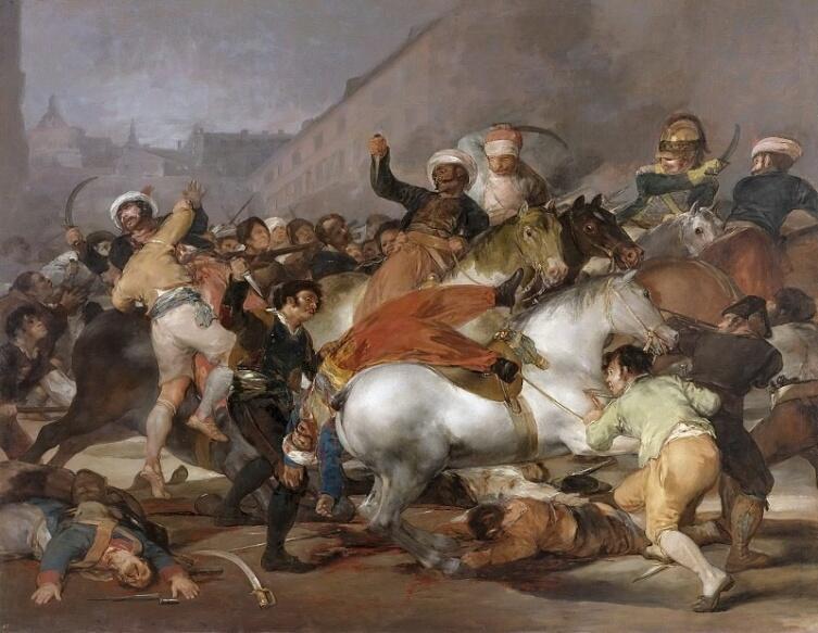 Франсиско Гойя, «Восстание 2 мая 1808 года в Мадриде», 1814 г.