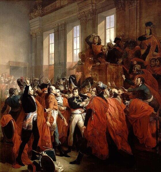 Франсуа Бушо, «Бонапарт в Совете пятисот», 1840 г.