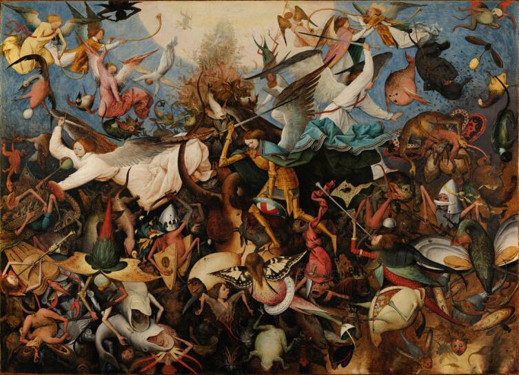 Питер Брейгель Старший, «Падение мятежных ангелов», 1562 г.