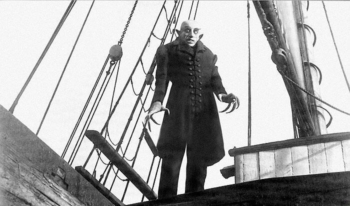 Кадр из к/ф «Носферату, симфония ужаса», 1922 г.
