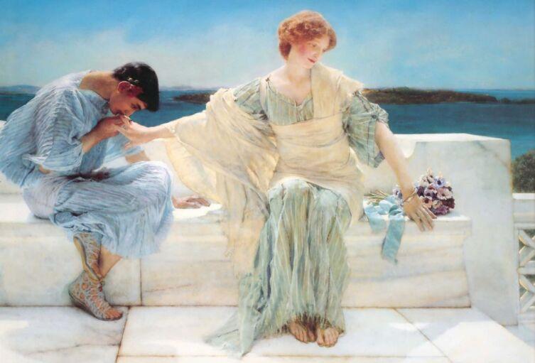 Лоуренс Альма-Тадема, «Не проси меня больше», 1906 г.