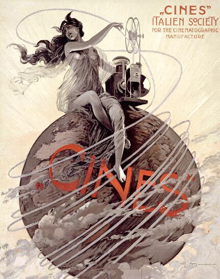 Логотип кинокомпании Cines, образованной в 1906 году в Риме