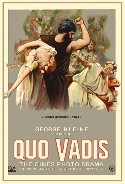 Постер фильма «Камо грядеши?», 1912г.