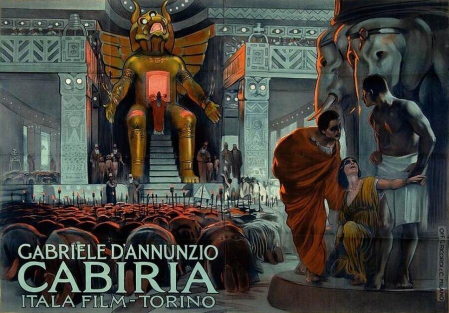 Постер фильма «Кабирия», 1914 г.