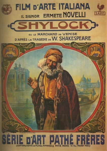 Постер фильма «Венецианский купец», 1911 г.