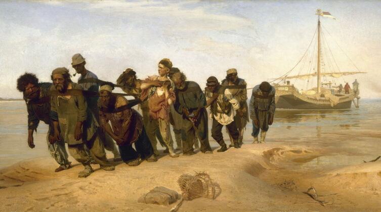 Илья Репин, «Бурлаки на Волге», 1873 г.
