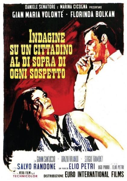 Постер фильма «Следствие по делу гражданина вне всяких подозрений», 1969 г.