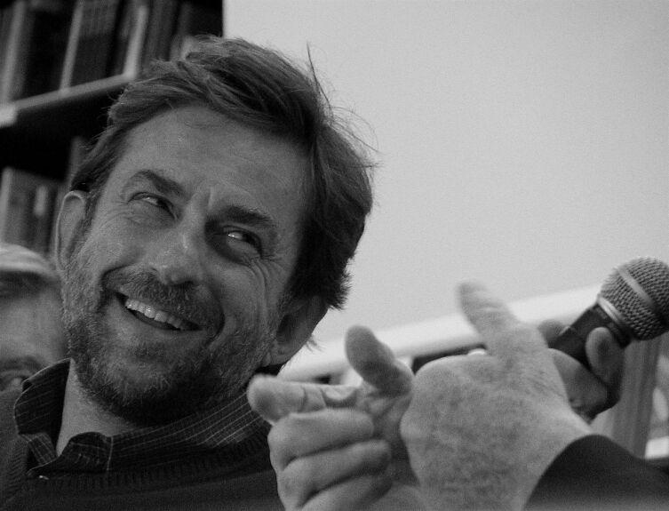 Итальянский кинорежиссёр Нанни Моретти в Риме, 2006 год