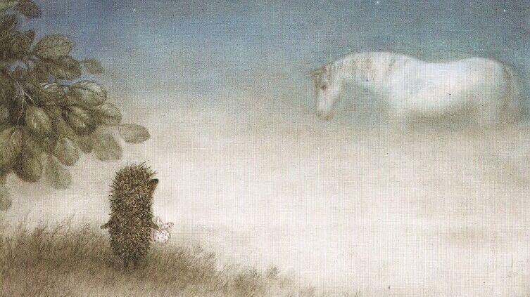 Кадр из м/ф «Ёжик в тумане», 1975 г.