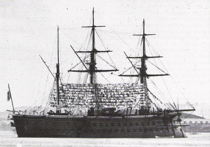 Французский батарейный броненосец «Solferino», построен 1861 г.