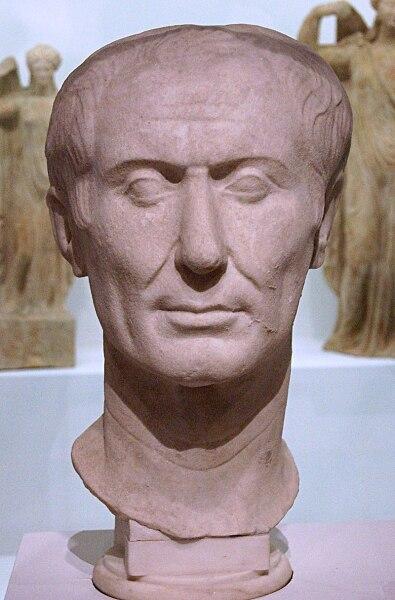 Гай Юлий Цезарь. Тускуланский портрет, считающийся единственным сохранившимся прижизненным скульптурным портретом Цезаря