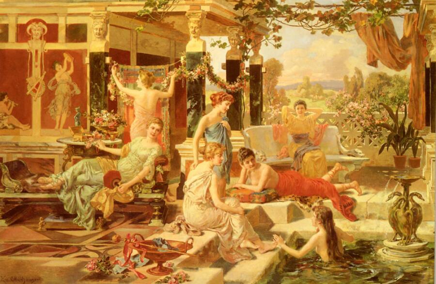 Эммануэль Оберхаузен, «Римская баня»