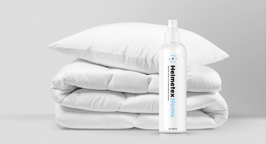 Средством HelmetexHome можно обрабатывать даже пледы, подушки и одеяла