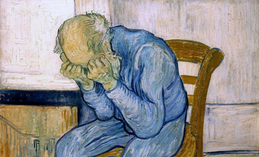 Винсент Ван Гог, «На пороге вечности» (фрагмент), 1890 г.