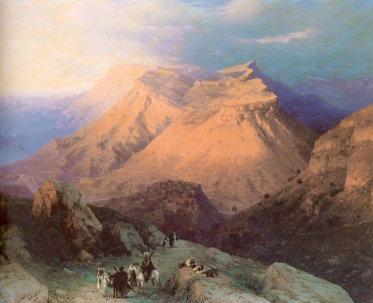 И. К. Айвазовский, «Аул Гуниб в Дагестане. Вид с восточной стороны», 1869 г.