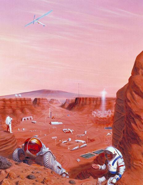 Марсианская колония в представлении художника