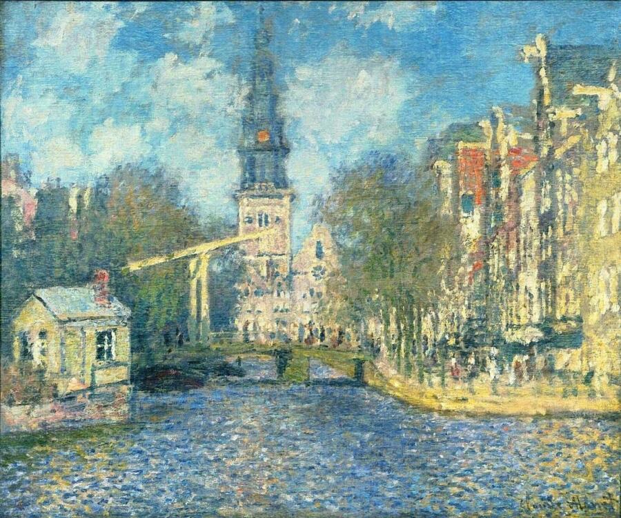 Клод Моне, «Южная церковь в Амстердаме», 1874 г.