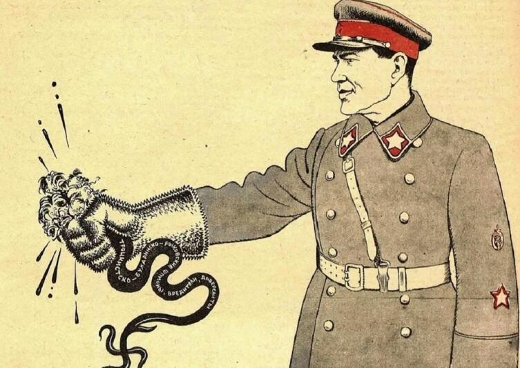 Б. Е. Ефимов, «Стальные ежовы рукавицы. Дружеский шарж на наркома внутренних дел Н. И. Ежова», 1937 г.
