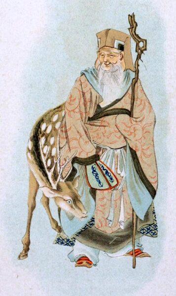 Бог Дзюродзин с оленем