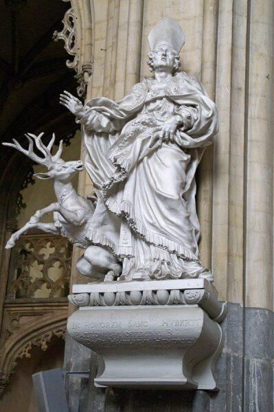 Статуя св. Губерта Льежского, 1689 г.