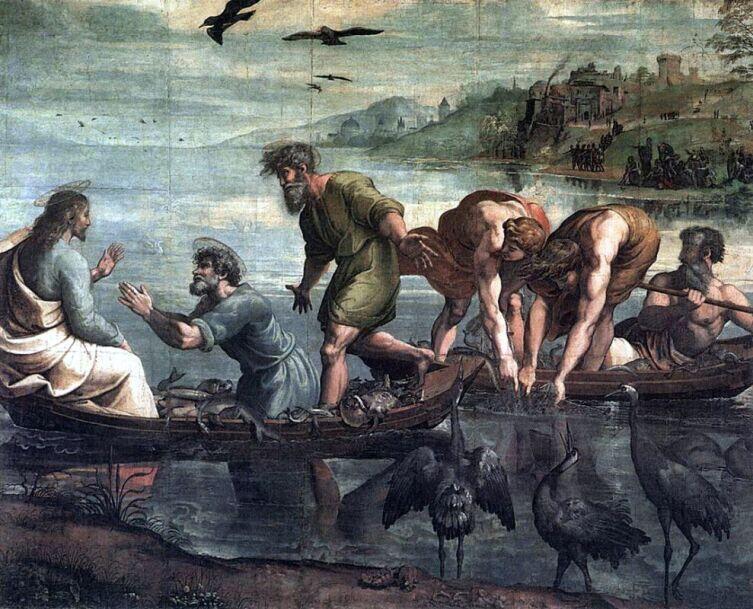 Рафаэль Санти, «Чудесный улов рыб», 1516 г.