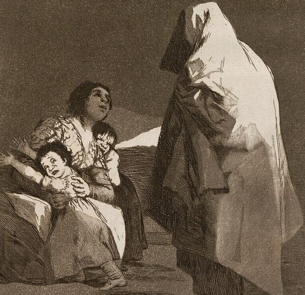 Ф. Гойя, «Приход Буки», фрагмент, 1797г.