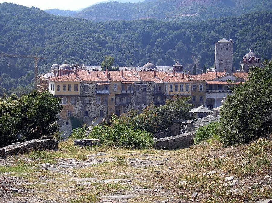 Иверский монастырь на Святой Горе Афон в Греции