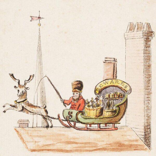 Иллюстрация к стихотворению «Old Santeclaus with Much Delight», 1821 г.