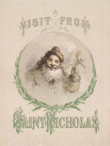 Обложка издания «Визит Святого Николая» 1862 г.