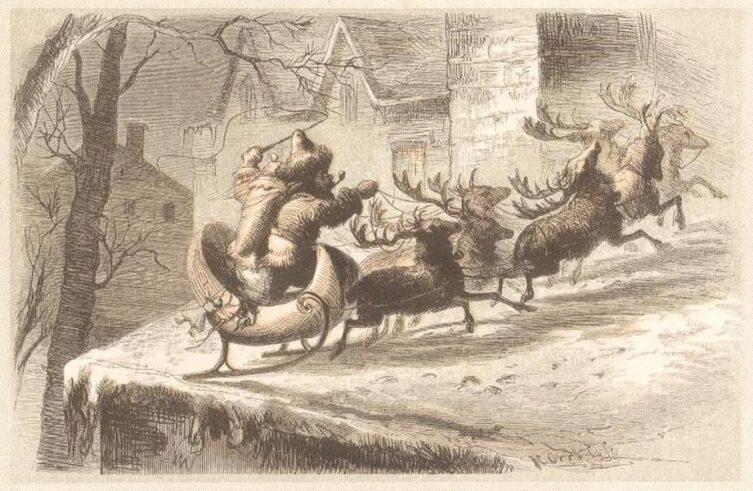 Рисунок из издания «Визит Святого Николая» 1862 г.