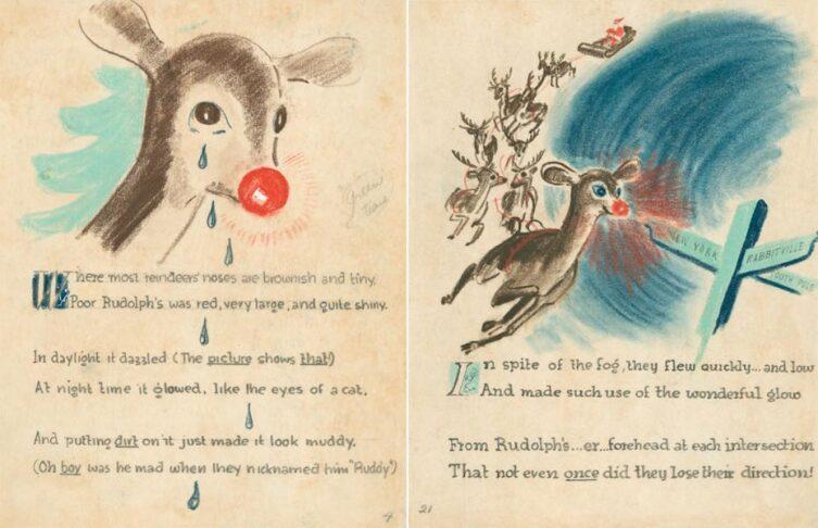 Оригинальные эскизы рождественской истории Роберта Мея