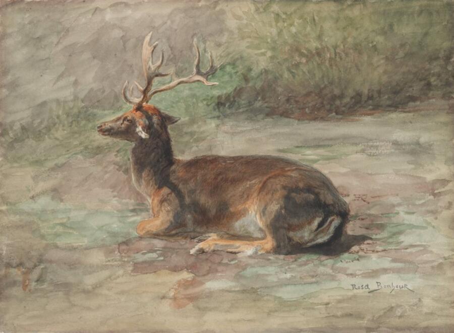 Роза Бонёр, «Лежащий олень», 1870-е гг.