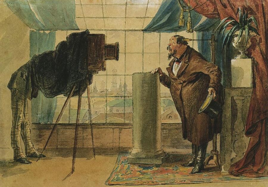 П. М. Шмельков, «Купец перед фотографом»