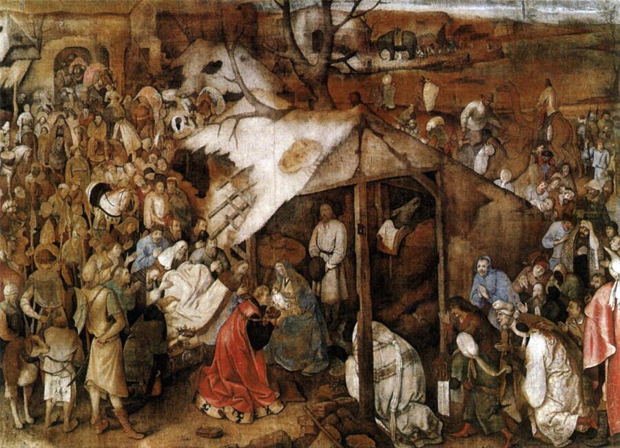 Питер Брейгель Старший, «Поклонение царей», 1564 г.