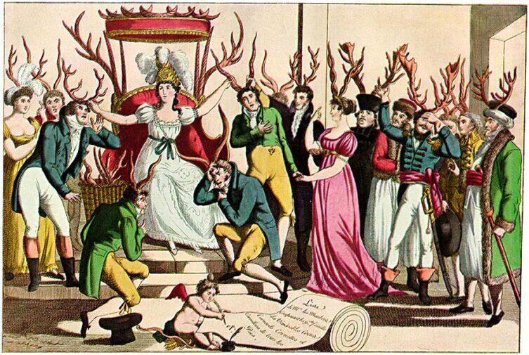 «Праздник Ордена Рогоносца перед престолом Её Величества Неверности», ок. 1815 г.