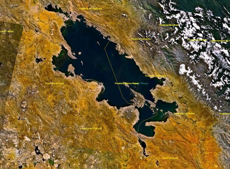Спутниковый снимок озера 1991 г.