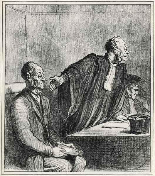 Оноре Домье, «Своей женой обманутый, вновь обманутый, архиобманутый…», 1864 г.