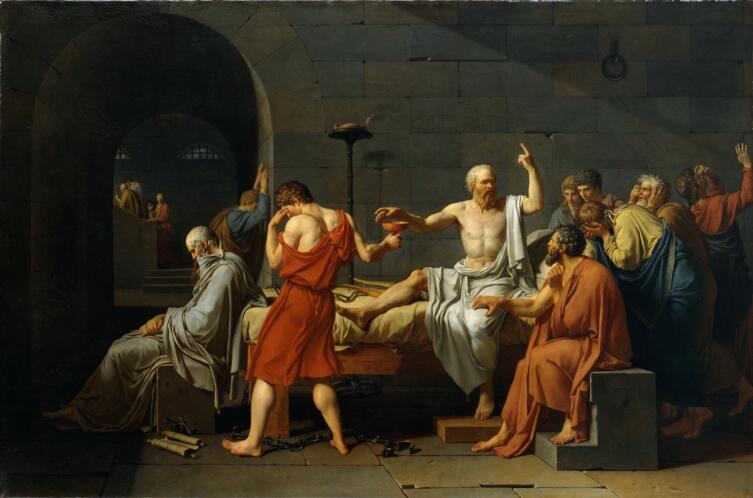 Жак-Луи Давид, «Смерть Сократа», 1787 г.