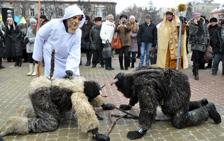 Рождественские традиции и обычаи в украинском городе Тернополь, 9 января 2013 г.