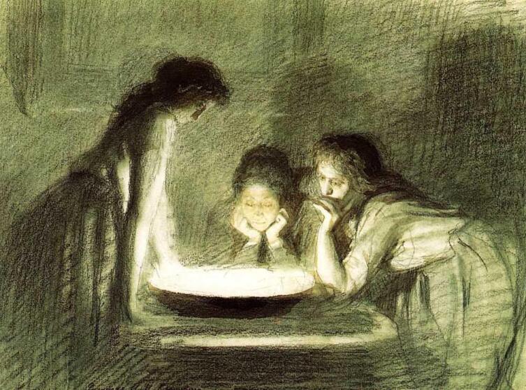 И. Н. Крамской, «Святочное гадание», 1880-е гг.