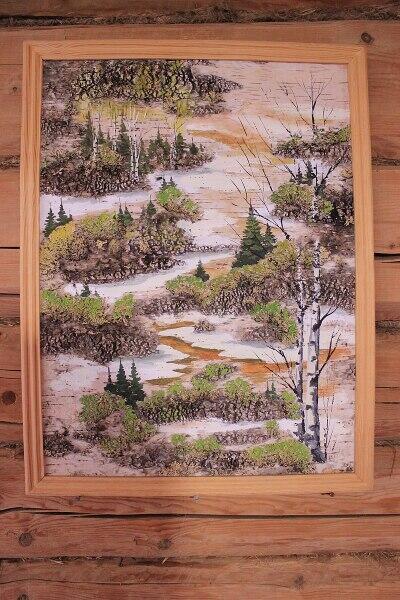 Картина на бересте в Лудорвайском музее