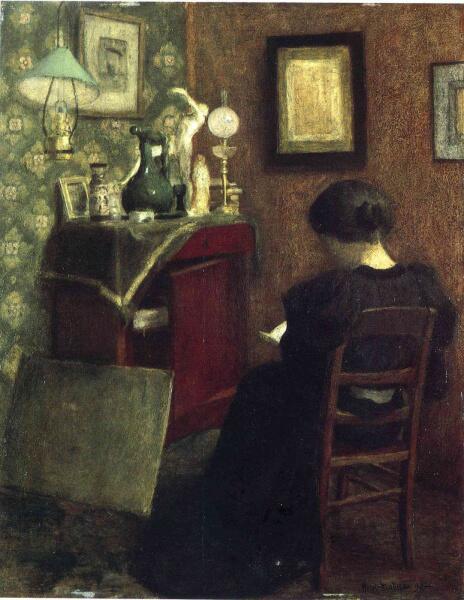 Анри Матисс, «Читающая женщина», 1894 г.